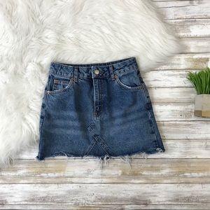 44379340da7f47 Topshop Skirts | Moto Denim Pelmet Mini Skirt | Poshmark